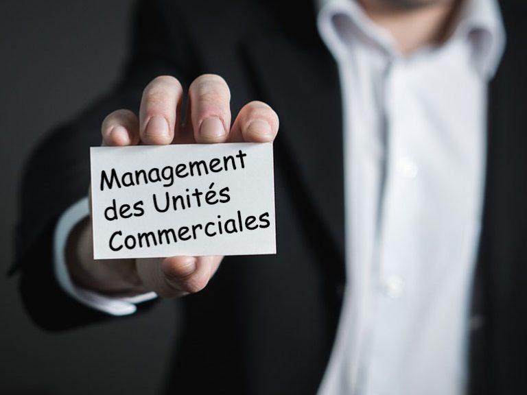 management des unités commerciales